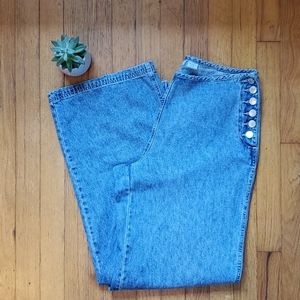 Vintage Repair Wide Legged High Rise Jeans